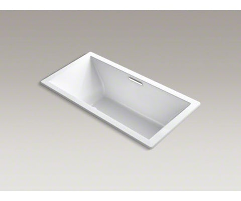 KOHLER K-1835-G-0 WHITE UNDERSCORE ACRYLIC BUBBLEMASSAGE CENTER DRAIN BATHTUB 72X36X23