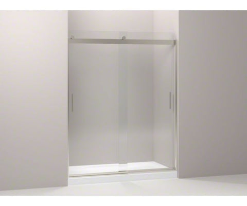 KOHLER K-706009-L-MX 60X74X1/4 MATTE NICKEL LEVITY 1/4 THICK GLASS FRAMELESS SLIDING SHOWER DOOR WITH HANDLE AND CLEAR GLASS