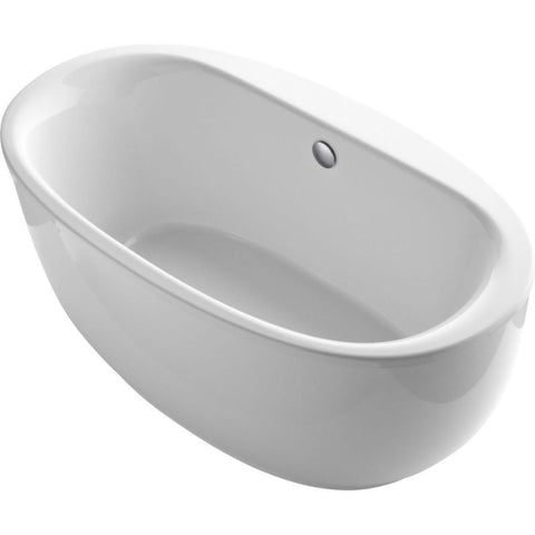 KOHLER K-6369-0 WHITE SUNSTRUCK ACRYLIC FREESTANDING BATHTUB 66X18X253/4 WITH FLUTED APRON