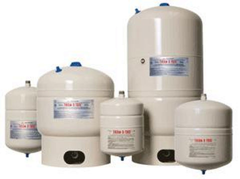 AMTROL ST-12 150 PSI 4.4GAL HIGH GLOSS TAN THERM-X-TROL STEEL INLINE DIAPHRAGM TYPE THERMAL EXPANSION TANK NON-ASME