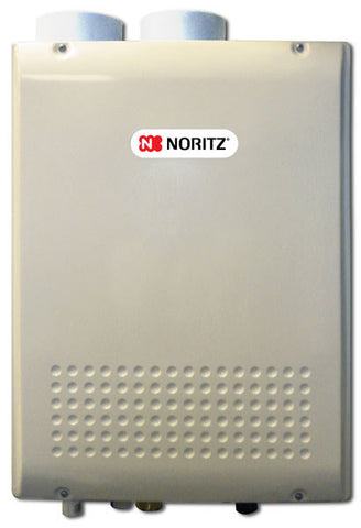 NORITZ NRC98-DV-NG 180MBTU 9.8 GALLONS PER MINUTE CONDENSING INDOOR RESIDENTIAL LOX NOX DIRECT VENT WATER HEATER 24.2 HEIGHT 18.3 WIDTH 9.4 DEPTH