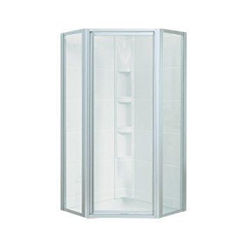 STERLING SP2275A-38S SILVER INTRIGUE NEO-ANGLE SHOWER DOOR 72X27-9/16 WITH SMOOTH CLEAR GLASS