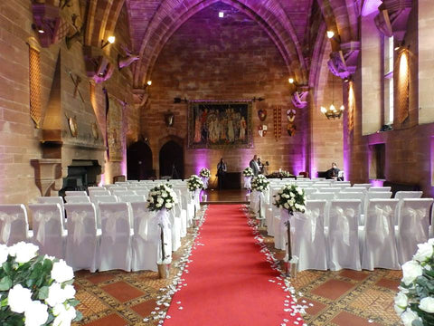 Inside the Great Hall at Peckforton Castle