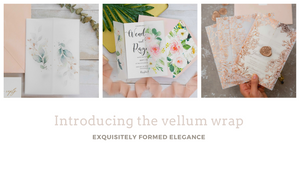 The new range of vellum wrapped wedding invitations