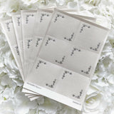 30 Decorative Toppers White With Silver Foil Flowers - Clearance