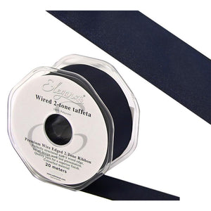Eleganza 38mm Premium Taffeta Wired Ribbon 20m Roll - Pewter-The Creative Bride