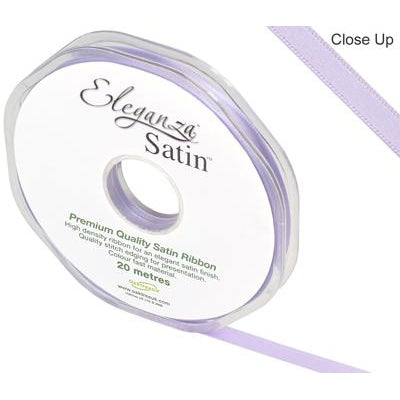 Eleganza 6mm Double Faced Satin Ribbon 20m Roll - Lavender-The Creative Bride