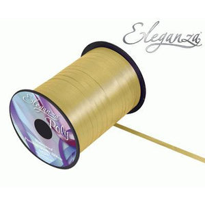 Eleganza 5mm Poly Curling Ribbon 500 yrd Roll - Gold-The Creative Bride