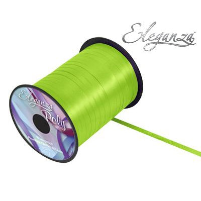 Eleganza 5mm Poly Curling Ribbon 500 yrd Roll - Lime Green-The Creative Bride