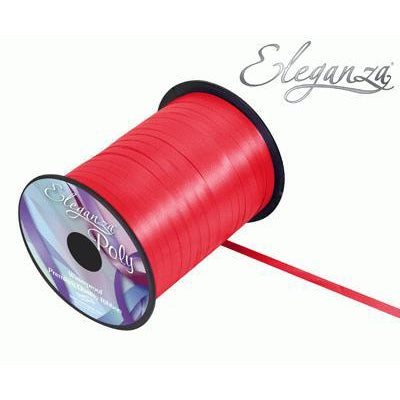 Eleganza 5mm Poly Curling Ribbon 500 yrd Roll - Red-The Creative Bride
