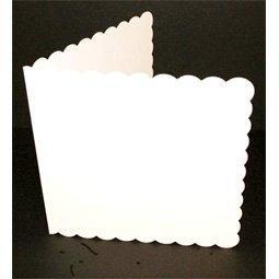 "Craft UK 25 Pack 7"" x 7"" Square Scalloped Edge Single Fold Card Blanks & Envelopes-The Creative Bride"