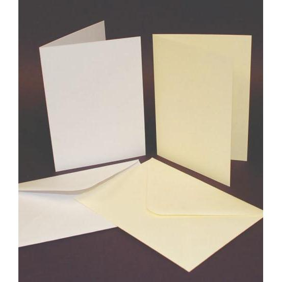 Craft UK A5 Smooth Card Blanks & C5 Envelopes Single Fold 25 Pack-The Creative Bride