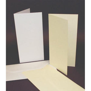 Craft UK Card Blanks & Envelopes Tall DL Single Fold 50 Pack-The Creative Bride