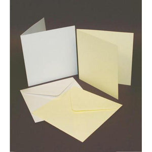 "Craft UK Square Card Blanks & Envelopes 3"" x 3"" Single Fold 50 Pack-The Creative Bride"