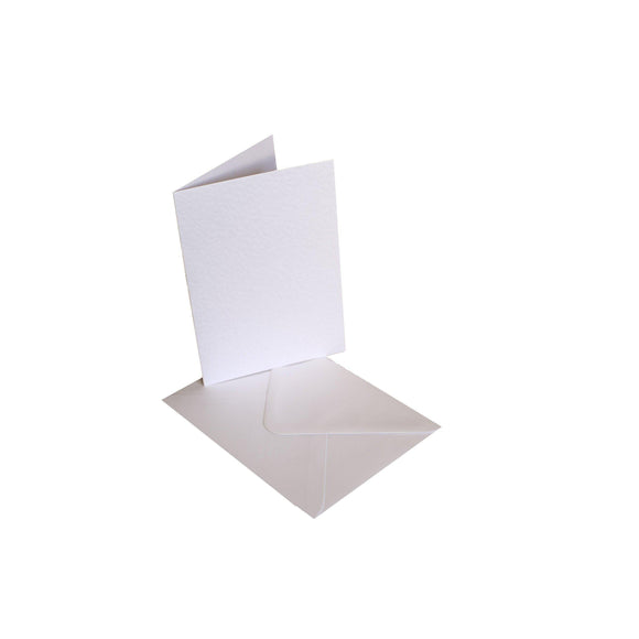 Craftitems Card Blanks & Smooth Envelopes Hammer Finish Single Fold A5 / A6-The Creative Bride