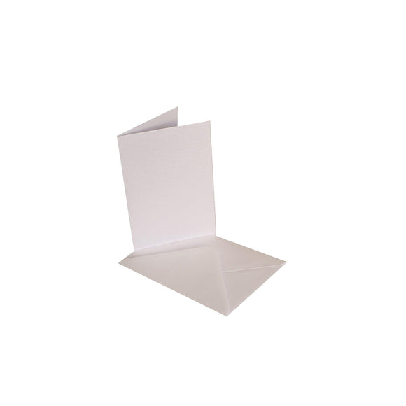 Craftitems Card Blanks & Smooth Envelopes Single Fold Linen Finish A5 / A6-The Creative Bride