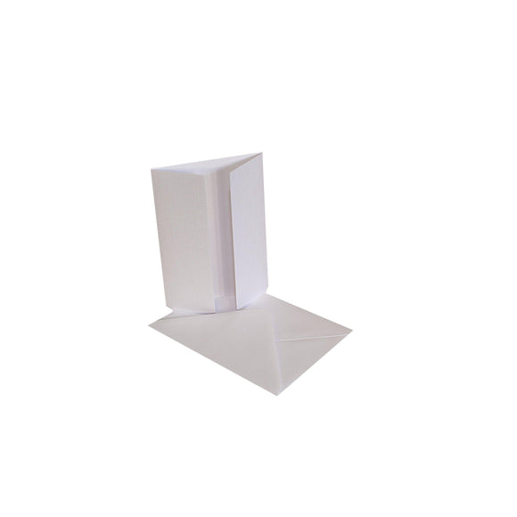Craftitems Gatefold Card Blanks & Smooth Envelopes Linen Finish A5 / A6-The Creative Bride