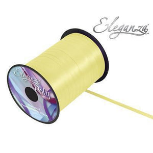 Eleganza 5mm Poly Curling Ribbon 500 yrd Roll - Pale Yellow-The Creative Bride