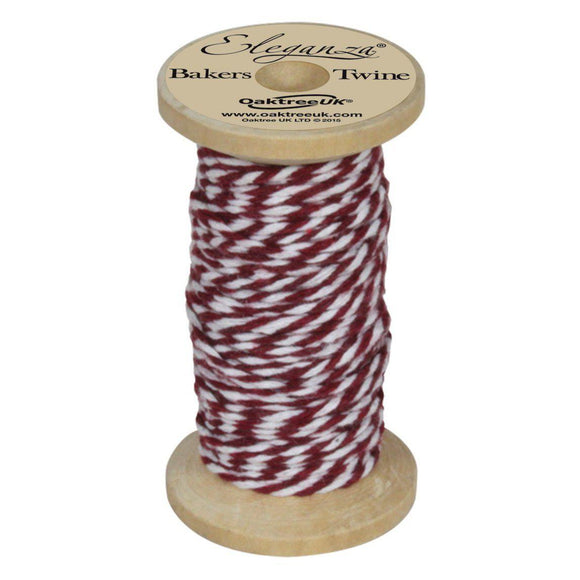 Eleganza Baker's Twine - Burgundy-The Creative Bride