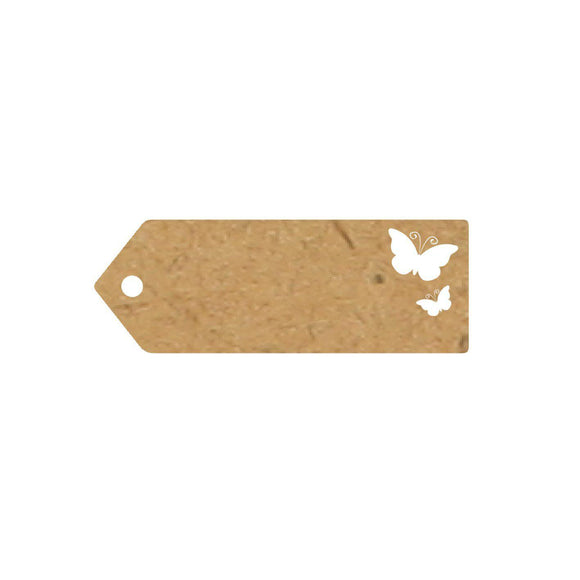 Eleganza Craft Gift Tag - Butterfly 70mm x 25mm-The Creative Bride