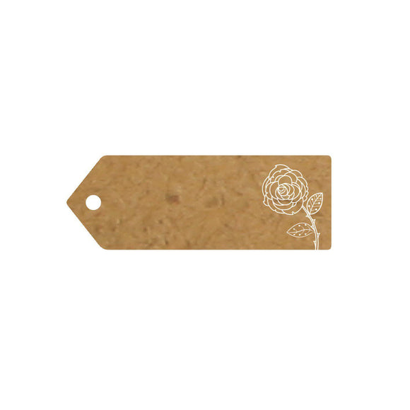 Eleganza Craft Gift Tag - Rose 70mm x 25mm-The Creative Bride