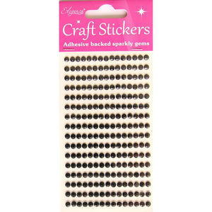 Eleganza Craft Self-Adhesive 4mm Round Rhinestone Stickers-The Creative Bride