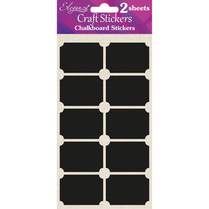 Eleganza Craft Self-Adhesive Chalkboard Rectangle Stickers-The Creative Bride