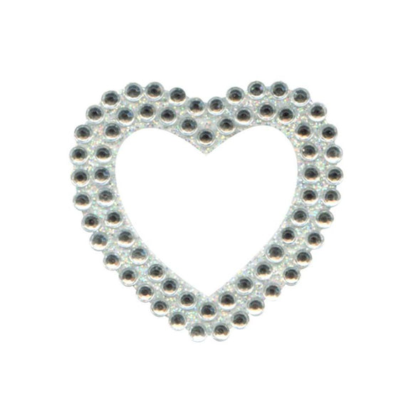 Eleganza Craft Self-Adhesive Heart Shape Rhinestone Stickers-The Creative Bride