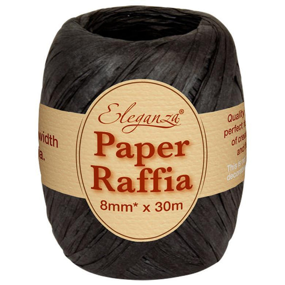 Eleganza Paper Raffia - Black-The Creative Bride