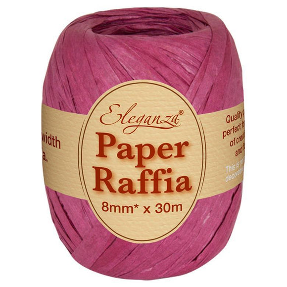 Eleganza Paper Raffia - Burgundy-The Creative Bride