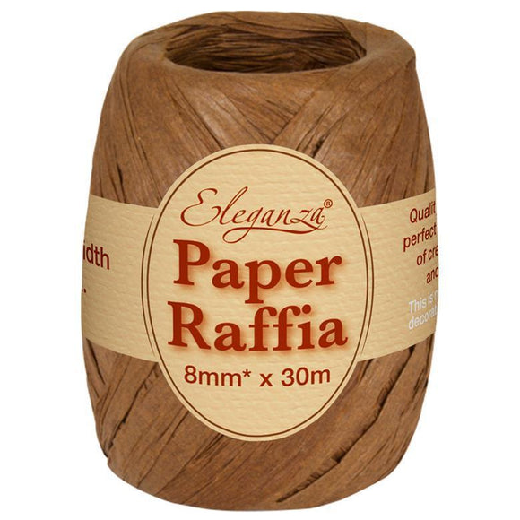 Eleganza Paper Raffia - Chocolate-The Creative Bride