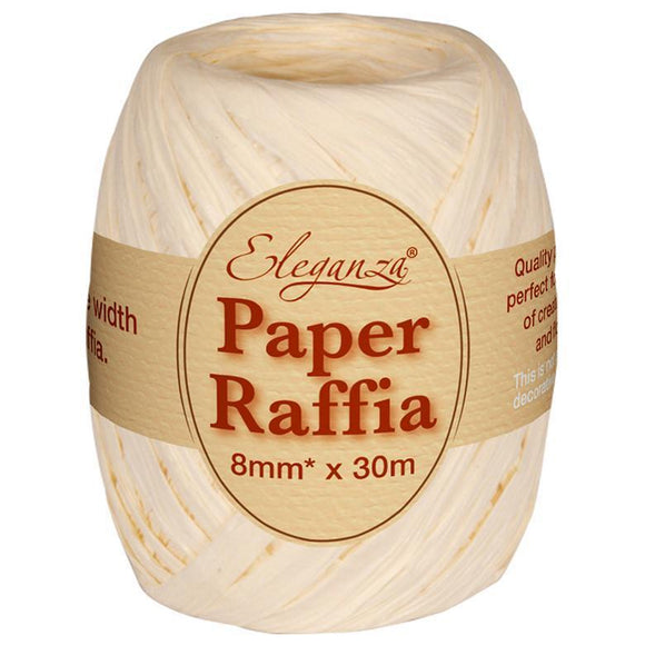 Eleganza Paper Raffia - Ivory-The Creative Bride
