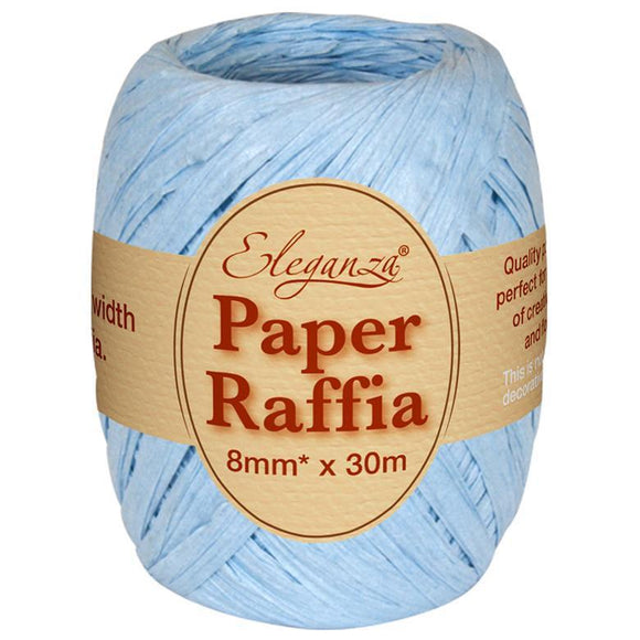 Eleganza Paper Raffia - Light Blue-The Creative Bride
