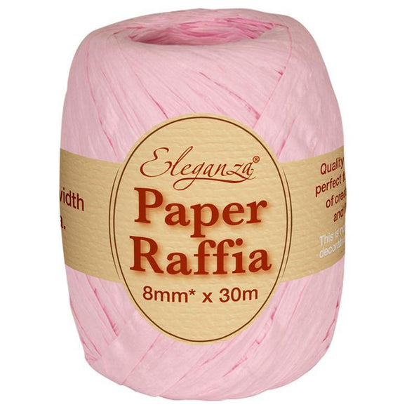 Eleganza Paper Raffia - Light Pink-The Creative Bride