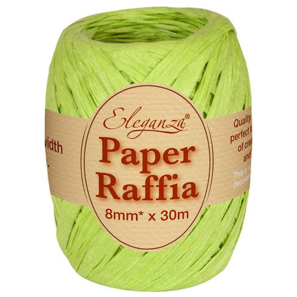 Eleganza Paper Raffia - Lime Green-The Creative Bride