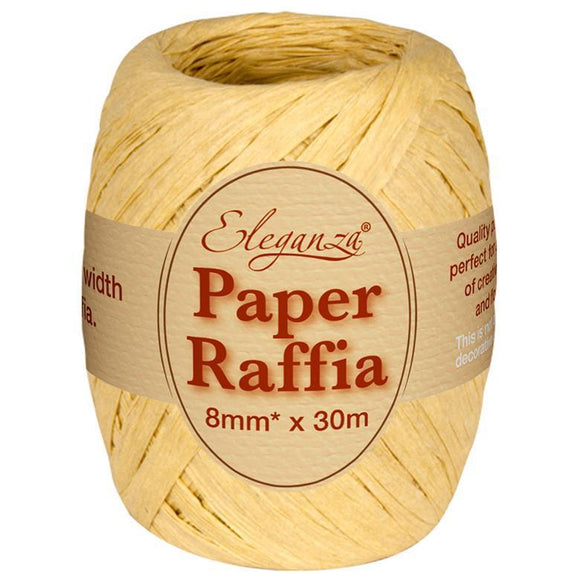 Eleganza Paper Raffia - Natural-The Creative Bride