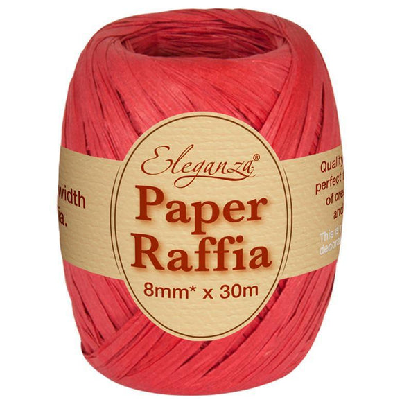 Eleganza Paper Raffia - Red-The Creative Bride