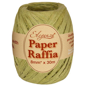 Eleganza Paper Raffia - Sage Green-The Creative Bride