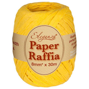 Eleganza Paper Raffia - Yellow-The Creative Bride
