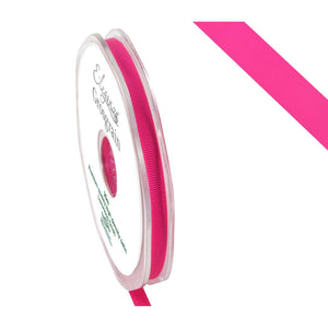 Eleganza Premium Satin Grosgrain Ribbon - Fuchsia 6mm-The Creative Bride