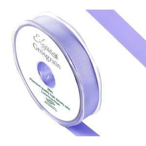 Eleganza Premium Satin Grosgrain Ribbon - Lavender 15mm-The Creative Bride