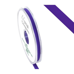 Eleganza Premium Satin Grosgrain Ribbon - Purple 6mm-The Creative Bride