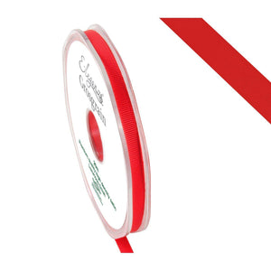 Eleganza Premium Satin Grosgrain Ribbon - Red 6mm-The Creative Bride
