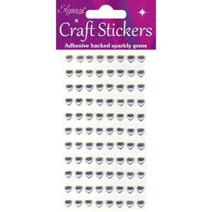 Eleganza Self-Adhesive Heart-Shaped Pearl Stickers - Silver-The Creative Bride