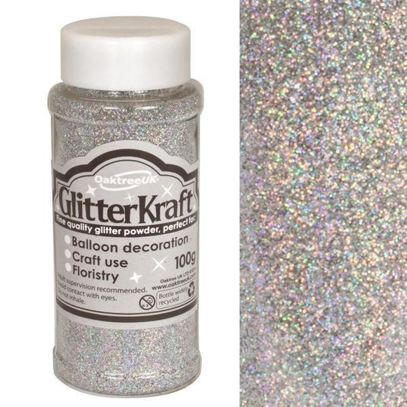 Glitter Kraft Fine Glitter - Holographic Silver-The Creative Bride