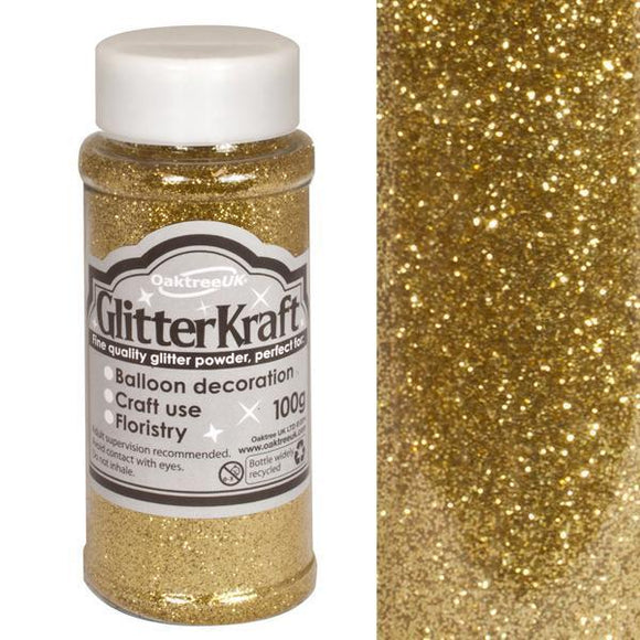 Glitter Kraft Fine Glitter - Metallic Gold-The Creative Bride