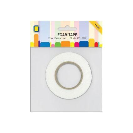 JEJE Double Sided Foam Tape 1mm x 12mm x 2 Metre Roll-The Creative Bride