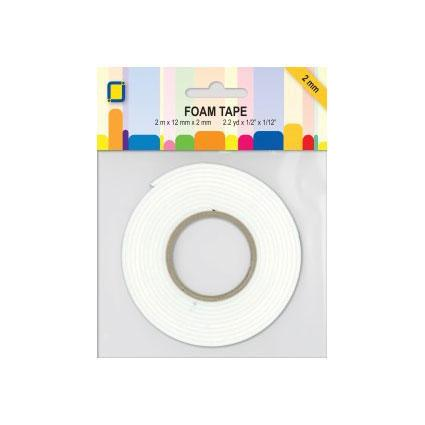JEJE Double Sided Foam Tape 2mm x 12mm x 2 Metre Roll-The Creative Bride