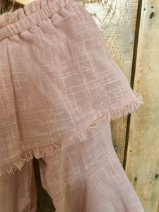 Blush Tattered Canvas Top