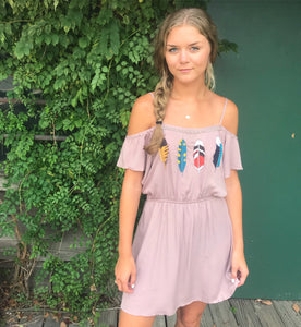 Mauve Feather Dress